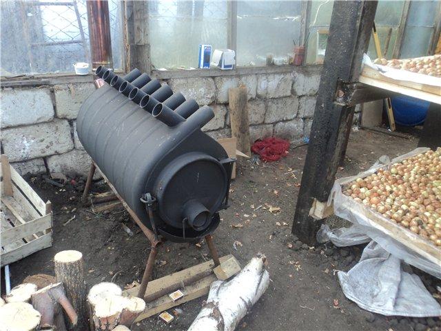 Фото отопления теплиц зимой